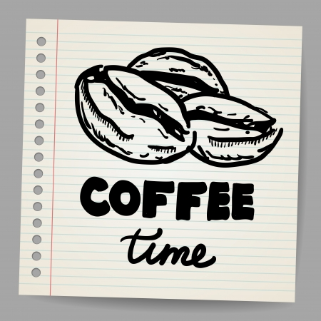 Coffee beans doodle Stock Vector - 18563686