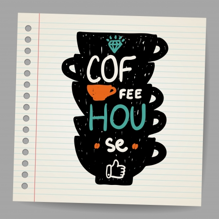 A cup of coffee doodle Stock Vector - 18563739