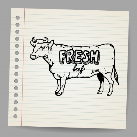 Scribble cow Stock Vector - 18563694