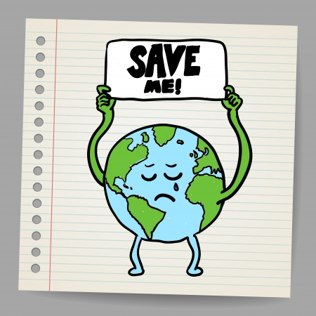 Save the earth design template  Vector