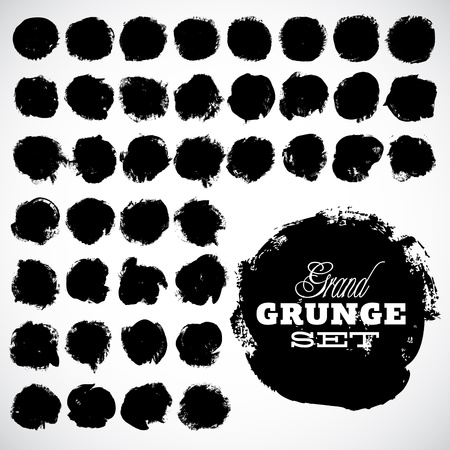 Abstract grunge ink draw shapes