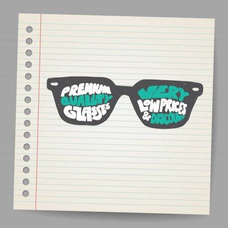 vision concept: Doodle Glasses with premium quality sign
