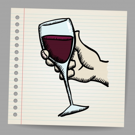 Wine doodle Stock Vector - 18791168