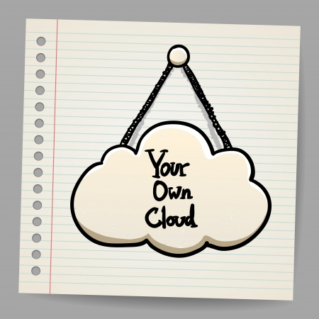 e business: cloud communication in doodle style