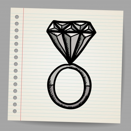 superlative: Doodle style diamond illustration
