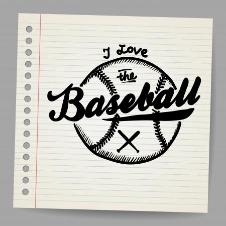 Doodle baseball design element Stock Vector - 18791156