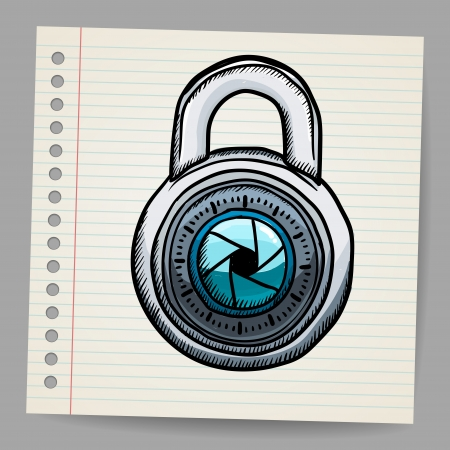 Lock in doodle style Stock Vector - 18780832