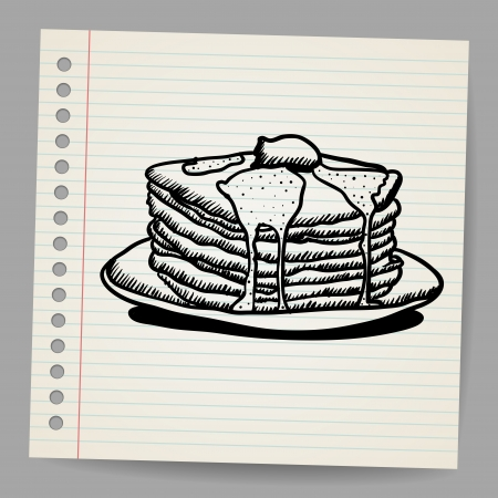 crepas: Pancake garabato