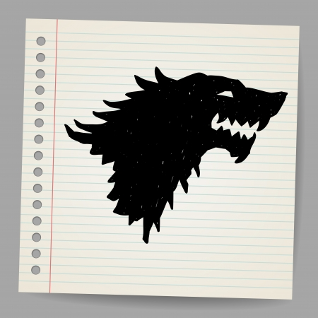 Black wolf for your design Stock Vector - 18791123