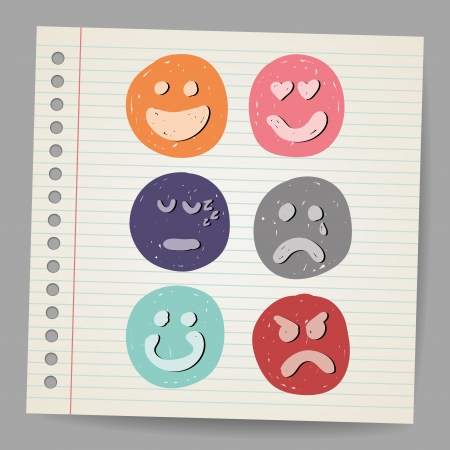 Scribble faces Stock Vector - 18791185