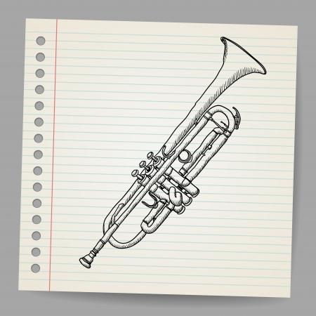 lowbrow: Tromba Doodle Vettoriali
