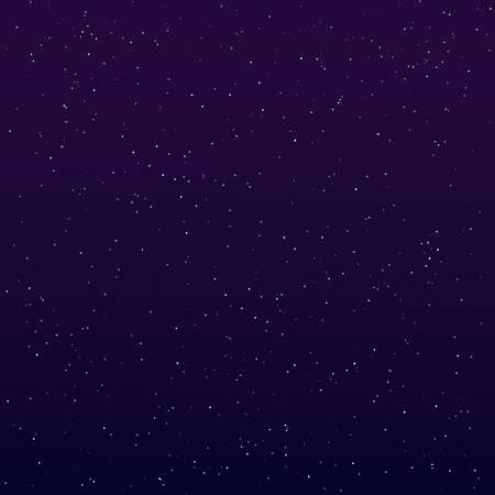 Night sky with stars background. Vector illustration