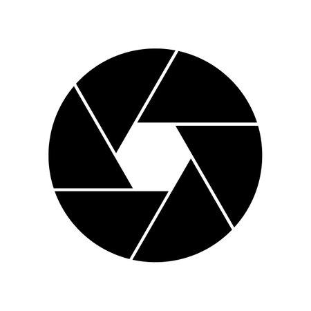 Diaphragm icon isolated on white background. Vector illustration