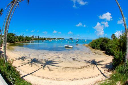 Bermuda beach and boats