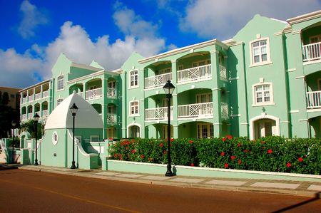 Bermuda street scene Banco de Imagens
