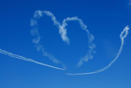 skywriting a heart