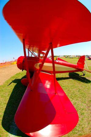 red biplane photo