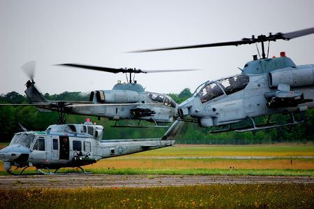 Military helicopter landing zone photo