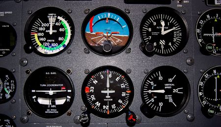light aircraft flight instruments