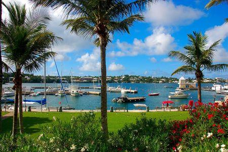 bermuda:  Bay View from Downtown Hamilton Bermuda Stock Photo