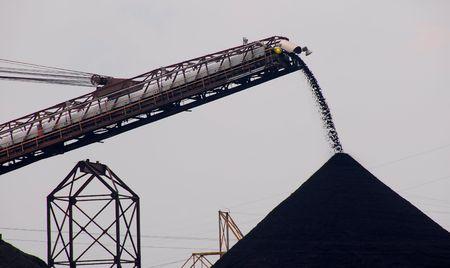 lossen van kolen naar kerncentrale