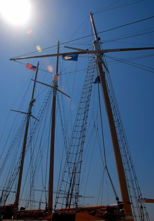 three mast sailboat