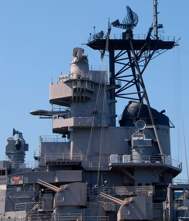 superstructure: superstructure of retired naval ship
