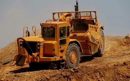 earthmover: earthmover on construction site