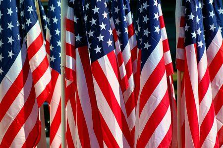 group of American flags Фото со стока