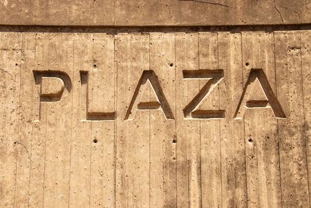plaza sign in concrete Stock fotó