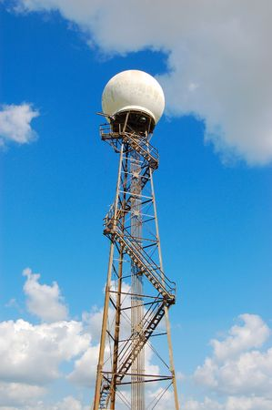 airport radome tower 스톡 콘텐츠