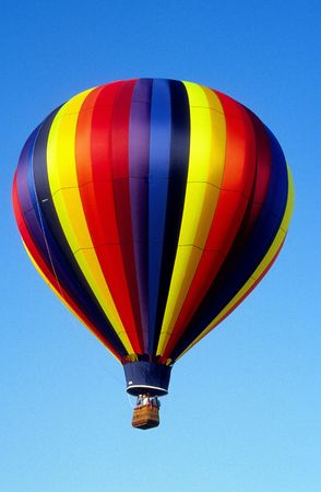 multicolor hotair balloon in flight