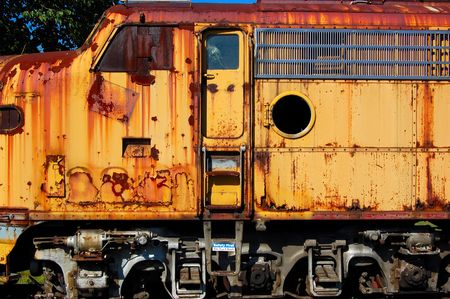 rusting railroad locamotive Banco de Imagens