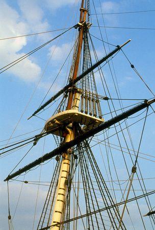 sailing ship mast and rigging