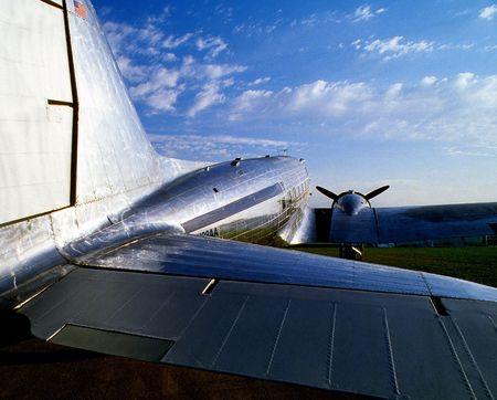 vintage transport airplane Banco de Imagens