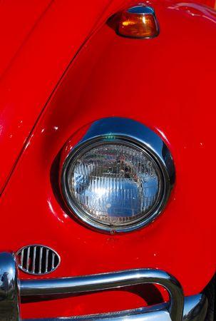 古典的な自動車のフロントの詳細 写真素材
