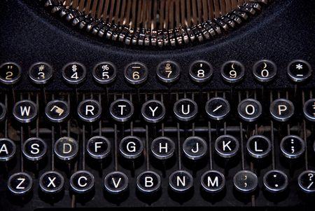handleiding typewritter Stockfoto