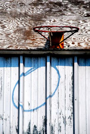 basketball hoop and shadow