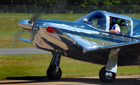 polished vintage aircraft