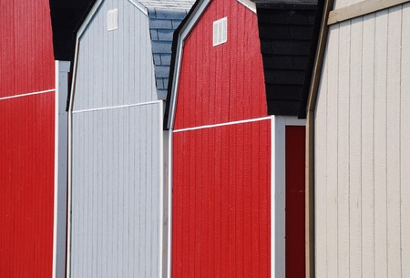 colorful farm storage builings