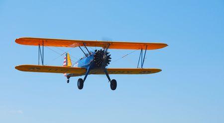 classic biplane in flight Banco de Imagens - 1779620