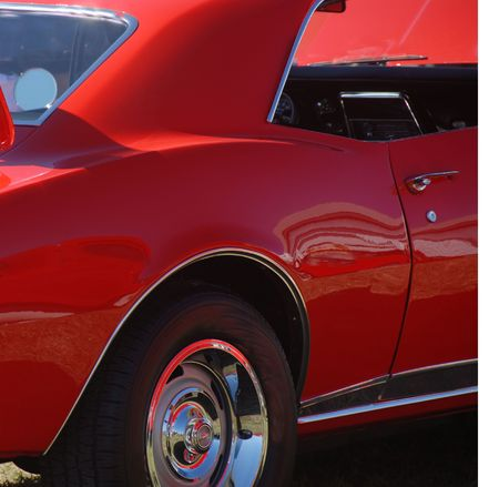 red muscle car side view Stock Photo - 1779621