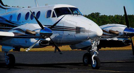 turboprop: executive turboprop aircraft Stock Photo