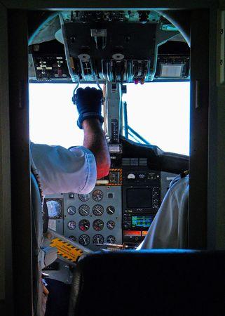 view of flight deck of a turborprop aircraft