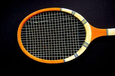 classic wooden tennis racket