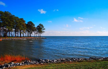 scenic view of the Chesapeake Bay Banco de Imagens