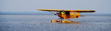floatplane on open water