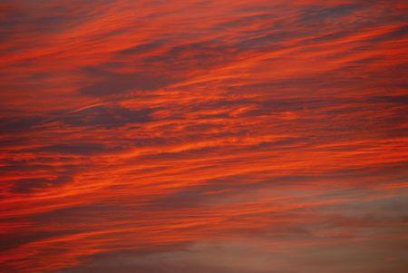 dramatic sky at sunrise