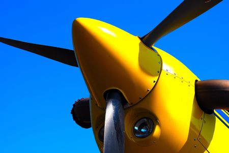 turboprop: turboprop aircraft propeller and spinner Stock Photo
