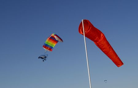 powered parachute and windsock photo